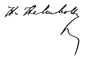 Unterschrift Hermann von Helmhotz'