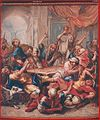 Het doorsnijden van de Hosties (reeks De Legende van de Heillige Hostie) - Wandtapijt van Frans Van der Borght (1770). -JPG.JPG