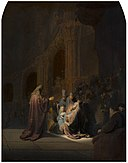 Het loflied van Simeon, Rembrandt van Rijn, 1631, Mauritshuis, The Hague.jpg