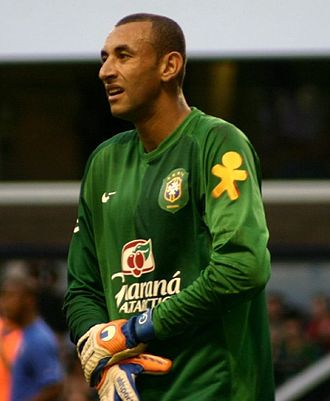 Heurelho Gomes - Gomes in an international friendly against Wales in 2006.