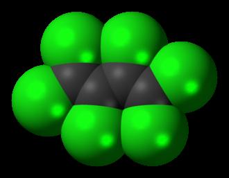 Hexachlorobutadiene - Image: Hexachlorobutadiene 3D spacefill