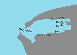 Heysham Port - A Map of the port of Heysham