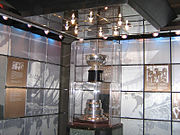 The original Stanley Cup, in the Hockey Hall of Fame vault.