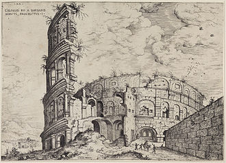 The Tower of Babel (Bruegel) - Image: Hieronymus Cock Kolosseum 1551 beschnitten