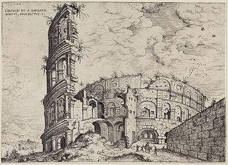 The Tower of Babel (Bruegel) - Image: Hieronymus Cock Kolosseum 1551 beschnitten