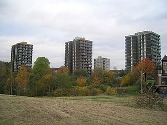 Collyhurst - Image: High rises at Collyhurst