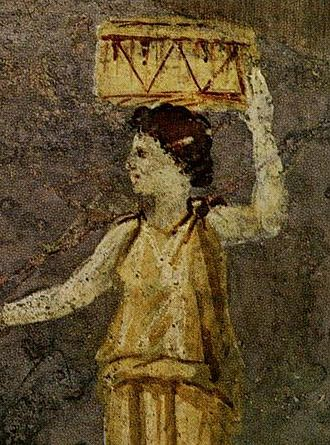 Hipparchia of Maroneia - Hipparchia of Maroneia. Detail from a Roman wall painting in the Villa Farnesina in Rome