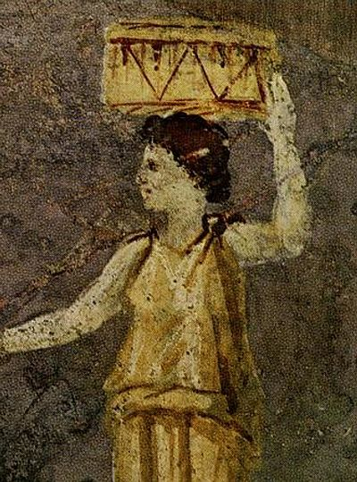 Hipparchia of Maroneia. Detail from a Roman wall painting in the Villa Farnesina in Rome. Hipparchia of Maroneia Villa Farnesina.jpg