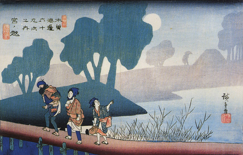 File:Hiroshige, A family in a misty landscape.jpg