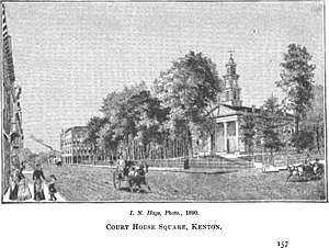 Kenton, Ohio - Courthouse Square in 1890