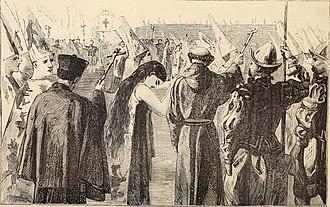 Auto-da-fé - An auto-da-fé in Seville, illustration from 1870