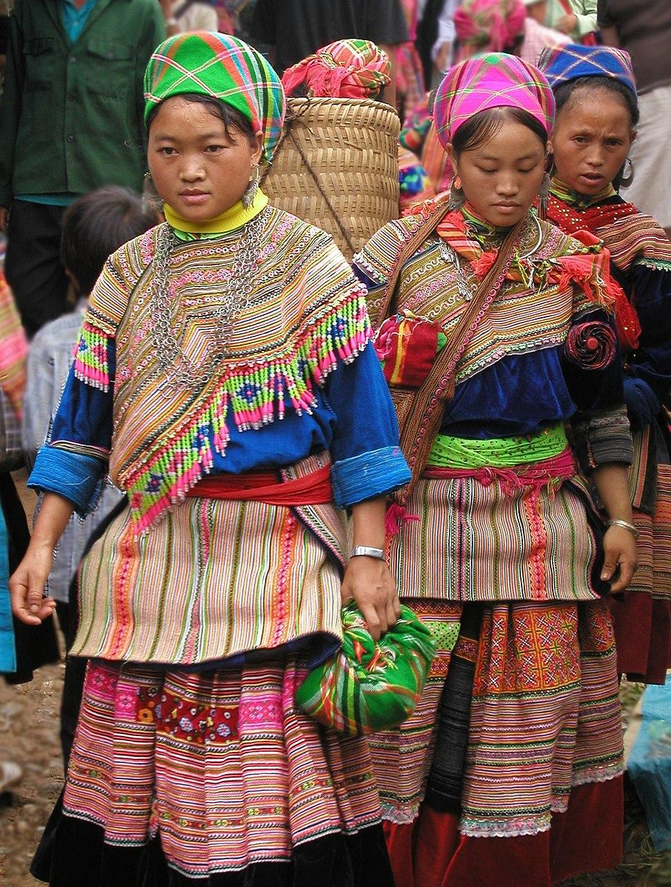 Hmong women at Coc Ly market, Sapa, Vietnam