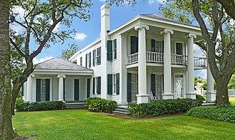 Michel Branamour Menard - 1838 Menard House in Galveston, NRHP-listed
