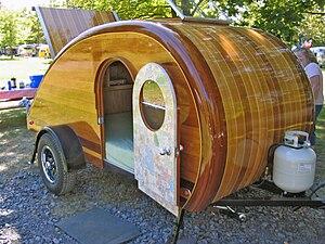 Teardrop trailer - A home made teardrop trailer