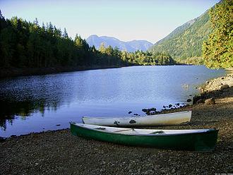 Hope, British Columbia - Lake and mountain view, Hope