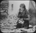 Hopi woman weaving a basket, ca. 1900 - NARA - 520083.tif