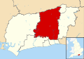 Horsham UK locator map.svg