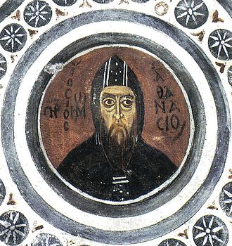 Athanasius of Alexandria - Fresco at Hosios Loukas, Greece (11th century)