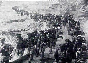 Hu Zongnan - Hu Zongnan's army advance toward Yan'an