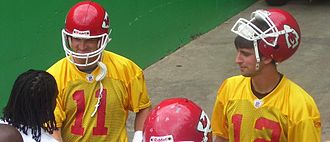 Kansas City Chiefs - Damon Huard (left) and Brodie Croyle (right) both served as the Chiefs' starting quarterback after Trent Green's departure