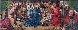 Hugo van der Goes: Adoration of the shepherds