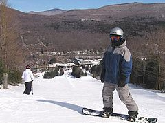 Snowboarder at Hunter Mountain