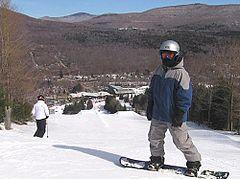 Snowboarder at Hunter Mountain