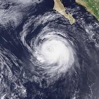 1990 Pacific hurricane season - Image: Hurricane Iselle Jul 25 1990 1801Z