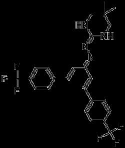 Strukturformel von Hydramethylnon