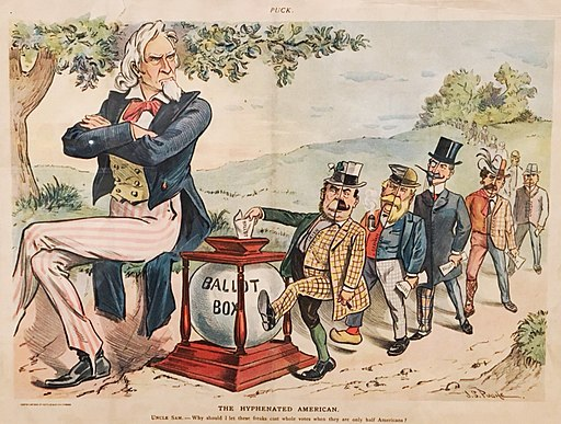 Hyphenated Americans Voting Cartoon 1899