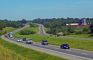 Interstate 84 in New York - Farmland in central Orange County