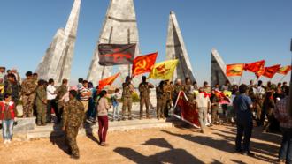 International Freedom Battalion - Image: IFB members at Destan Temmuz burial in Kobanê
