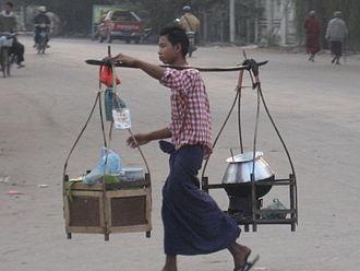Mohinga - Mohinga streethawker in Mandalay