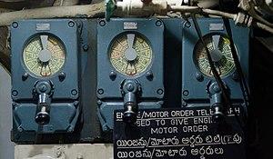 INS Kursura (S20) - Telegraph dials aboard the submarine