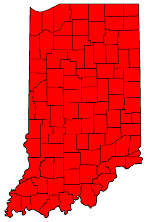 United States Senate election in Indiana, 2006 - Image: IN Sen Counties 06