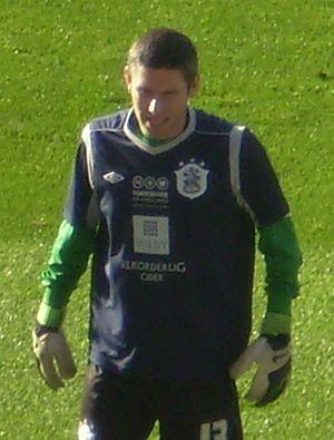 Ian Bennett (footballer) - Bennett warming up in October 2012