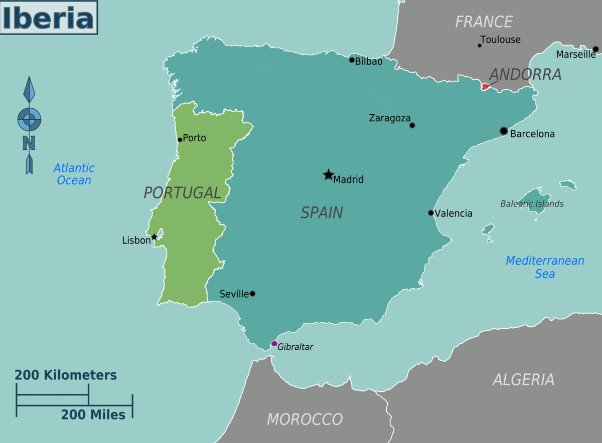 iberian peninsula on map of europe Iberia – Travel guide at Wikivoyage