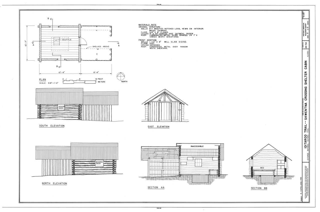 Alaska matanuska susitna county skwentna - File Iditarod Trail Shelter Cabins Skwentna Crossing Shelter Cabin Skwentna Matanuska Susitna Borough Ak Habs Ak 9 Sew 2 A Sheet 2 Of 2 Png