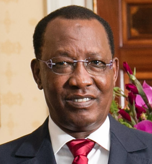 Chadian presidential election, 2016 - Image: Idriss Deby with Obamas (cropped)2014