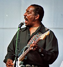 Turner performing at the Long Beach Blues Festival in 1997