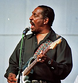 Ike Turner op het Long Beach Blues Festival (1997).