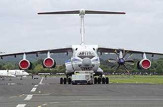 Gromov Flight Research Institute - Ilyushin Il-76LL testbed with Progress D-27 engine prototype