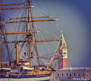 """Italian training ship Amerigo Vespucci - Venezia """"San Marco"""""""