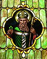Immaculate Conception Catholic Church (Port Clinton, Ohio) - stained glass, St. Patrick.JPG