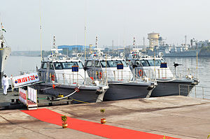 Immediate Support Vessel - Image: Immediate Support Vessels T 38, T 39 & T 40 ready for commissioning