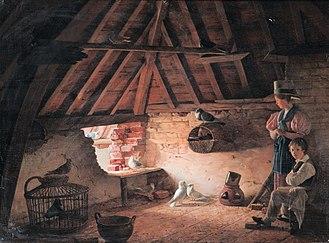 Henry Voordecker - In the Dovecot, 1833