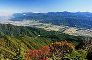 Ina Basin and Akaishi Mountains from Mount Eboshi 2010-10-11.jpg