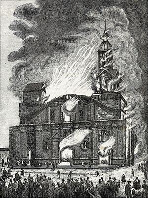 Resultado de imagen para benjamin vicuña mackenna incendio del templo de la compañia