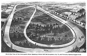 Indianapolis Motor Speedway - Artist's rendition of the original speedway plan (not an actual picture)