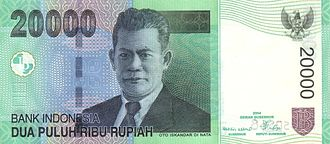 Oto Iskandar di Nata - Oto Iskandar di Nata featured on the 20,000-rupiah banknote issued by Bank Indonesia.